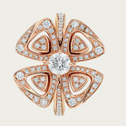 Natural 1.00 Ct Stunning Diamond Engagement Ring Solid 14k Rose Gold Size 6 7 8