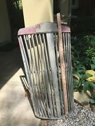 Wc Or Wb Vintage White Truck Grille, Probably Late 1940s Or Early 50s