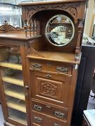 Poker Player Antique Side By Side Cabinet China Clubs Spades Wow Desk