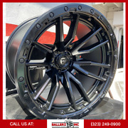 22x12 Fuel Rebel Offroad On 33/12.50r22 Satin Black Wheels With Off-road Tires