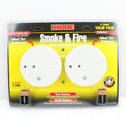 Kidde Smoke And Fire Alarms 2 Unit Value Pack Ideal For Kitchen 0916k 440375