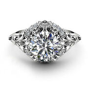 Solid 14k White Gold 0.65 Ct Round Natural Diamond Wedding Ring Size 7 For Women