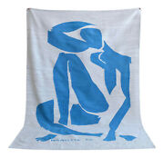 Henri Matisse - Blue Nude 4 - Inspired Silk Hand Woven Area Rug Wall Rug 5x7 Ft
