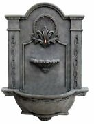 Ladybug Formal Courtyard Fountain Hand Finished Made Of Marble Resin - Moss