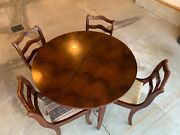 Vintage Duncan Phyfe Solid Mahogany 42andrdquo Table No Chairs