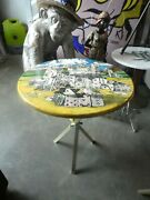 Vintage Iconic Fornasetti City Of Cards Side Table