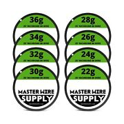 Nichrome 80 Wire Sample Pack 25' Each 22,24,26,28,30,32,34,36 Gauge New