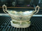 19thc / 20th C German 800 Silver Footed Bowl W Stand And Glass Insert Chipped