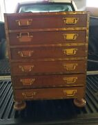 1960's Raymor Miniature Campaign Chest With Brass Hardware Super Decorator Item