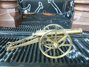 Very Large Well Made Decorative Model Brass Cannon