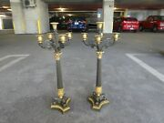 19th Century French Napoleon 3rd Empire Bronze And Metal Candelabras