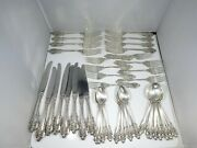 Wallace Sterling Silver Grand Baroque Flatware 5 Piece Place Setting For 8