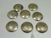 Lot Of Assorted Silver Southwest Concho Buttons
