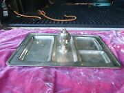 Black Starr And Frost Sterling Silver Smoking Tray With Sterling Lighter 35 T Oz