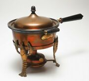 Antique Joseph Heinrichs Copper And Brass Lobster Chafing Dish