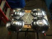Late 1940and039s Early 1950and039s Oldsmobile Hubcap Set Of 4