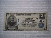 1902 5 Galion Ohio Oh National Currency Plain Back 1984 Citizens Nb Pmg 50