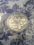 The Last Supper Jesus Bible .64oz Silver Christianity Medal Hand Patinated