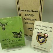 Ducks At A Distance Waterfowl Identification Guide And Duck Goose Decoy Paint Lot