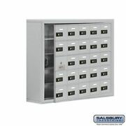 Cell Phone Storage Locker - With Front Access Panel - 5 Door High Unit 8 Inch D