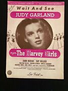 Vintage- 1945- Wait And See -mgm Judy Garland -the Harvey Girls Sheet Music