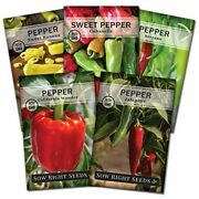 Sow Right Seeds - Pepper Seed Collection For Planting - Individual Packets Of Ba