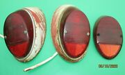 1960and039s Vw Type 1 Beetle Bug Hella Tail Light Tail Lamp Lens Assemblyand039s Used Oem
