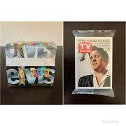 Elvis The Platinum Collection - Sealed Hobby Box And Tv Guide Set - Inkworks 1999