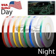 Reflective Tape Safety Self Adhesive Strip Reflector Sticker Decal 1cm X 150ft