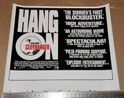 Cliffhanger Reviews Advertisement Poster Printers Proof Sylvester Stallone