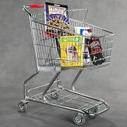 Grocery Shopping Cart Extra Tough Steel Quality - 38 H X 37 Inches