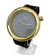 Men Casual Watch Ice Master Bm1281 Black Silicone Band, Gold Case 1 Atm