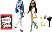 Monster High Mad Science Ghoulia Yelps And Cleo De Nile Dolls2 Pack-bnib