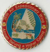 36th Air Expeditionary Wing Ministry Andersen Afb Chapel Guam Coin 2 Dia Bx2