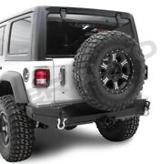 Rock Crawler Rear Bumper+dual Plate+2 Hitch+d-ring For 18-19 Jeep Jl Wrangler