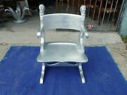 Magnificent Victorian Silver Leafed Egyptian Revival Armchair 4 Desk