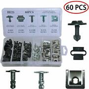 60pcs Clips Engine Cover Pan Protection Kit Pin Nut For Audi A4 S4