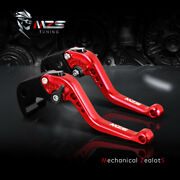 Mzs Short Clutch Brake Levers For Grom 125 Nc700/750 Rc51 St1300 Vfr800 Red Pair