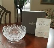 Waterford Crystal 8and039and039 Master Cutter Bowl Certificated Perfect Wedding Gift