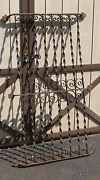 Large Antique Wrought Iron Arcitectural Window Grate Possible Pot Rack