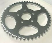 Chrome 48 Tooth Flat Sprocket For Harley Fxst And Fxd 1986/99 With A 530 Chain