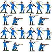 Starlux American Civil War Union Infantry - 20 Painted 60mm Plastic Toy Soldiers