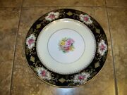 Vintage Footo China Plate Made In Occupied Japan Gold Embossed Floral
