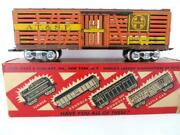 Marx Nos 3/16 Santa Fe Scale Cattle Car For The 333 Nice Original Box Gorgeous