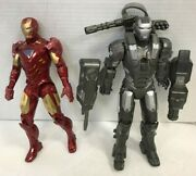 Two 2010 Hasbro 10 Action Figures Iron Man And War Machine New Sealed Free Ship