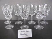 8 - Waterford Crystal Ashling Water Goblets - Set Of 8