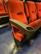 Lot 10 Used Home Theater Seating Real Cinema Movie Chairs Seats Red Velvet