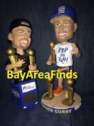 2 Golden State Warriors Stephen Curry 2017 Bus And 2018 Rep The Bay Bobblehead Sga