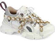 Womens Journey Flashtrek Jewel Crystal White Hiker Low Boot Sneaker 36.5