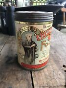 Rare Malted Slippery Elm Food 1lb Tin Can Antique Amazing Condition Empty